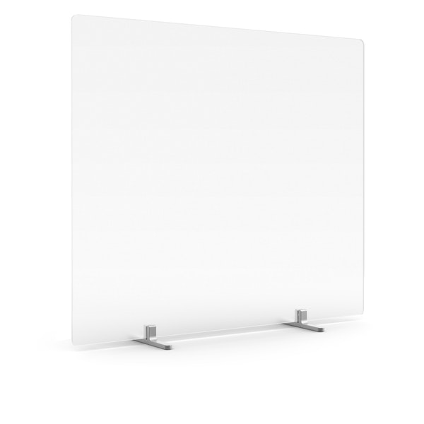 """Tall Frost White Privacy Panel, 27"""", Footed,,hi-res"""