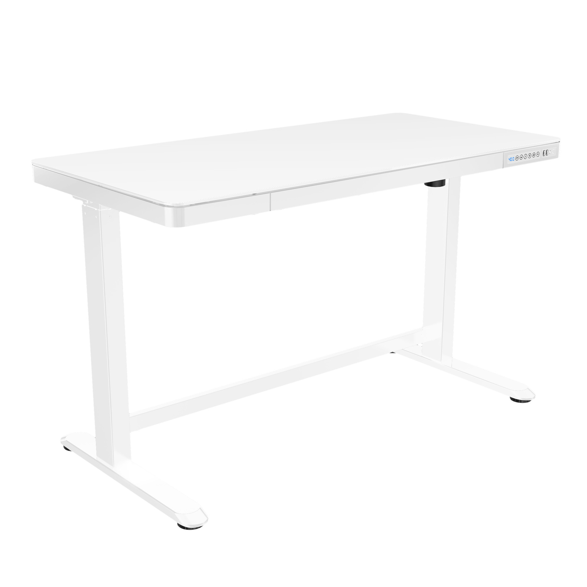 Picture of: White Home Office Adjustable Height Desk Poppin