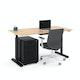 "Raise Adjustable Height Single Desk, Natural Oak, 60"", Black Legs,Natural Oak,hi-res"