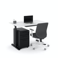 Raise Adjustable Height Single Desk, Black Legs,,hi-res