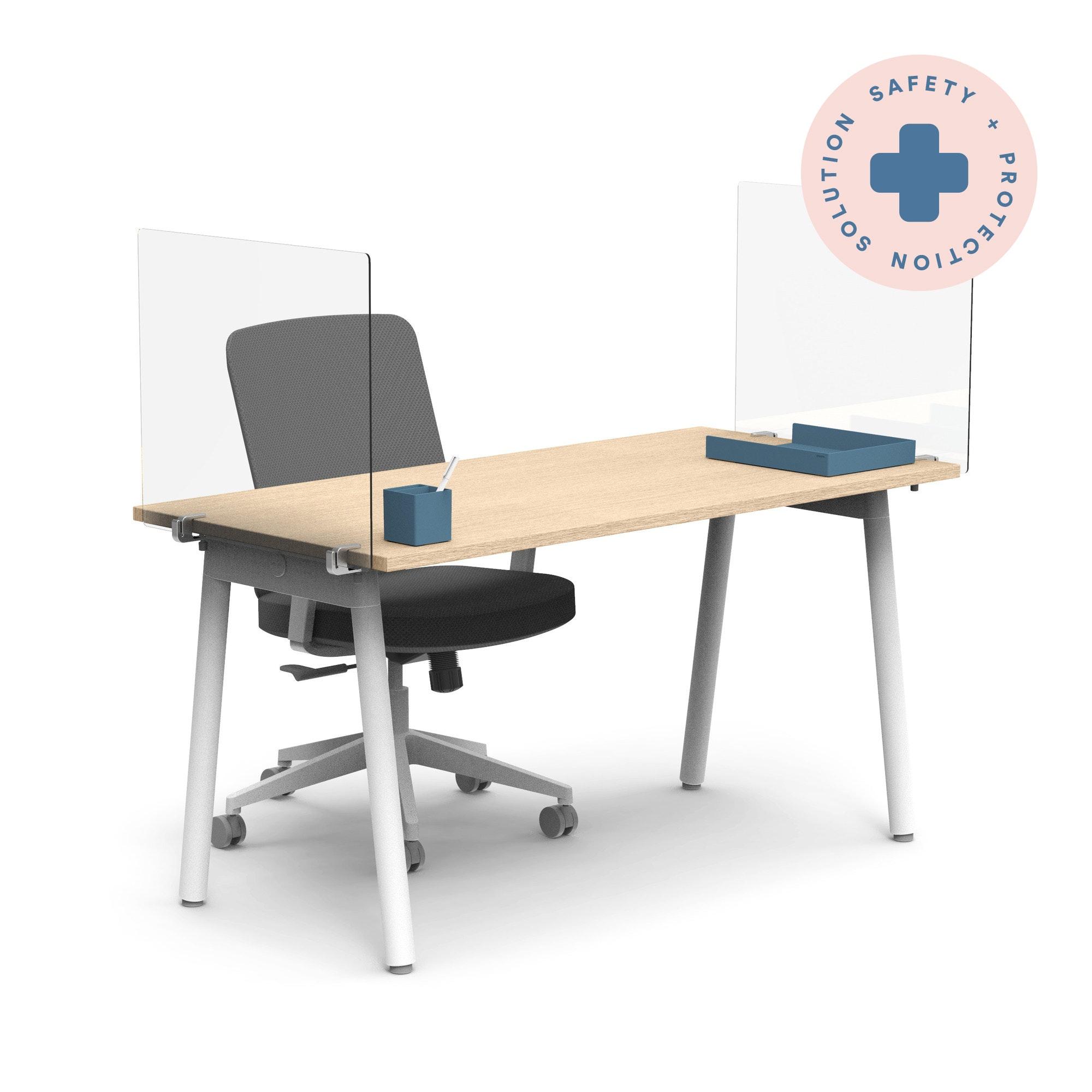 Foldable Work Station Shield 24H X 30W 22D Acrylic .150