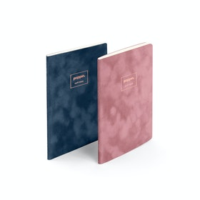 Assorted Velvet Small Notebooks, Set of 2