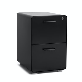 Black Stow 2-Drawer File Cabinet