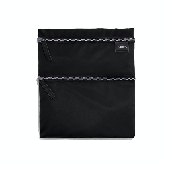 Black + Olive Zip Zip Zip Pouch,Black,hi-res