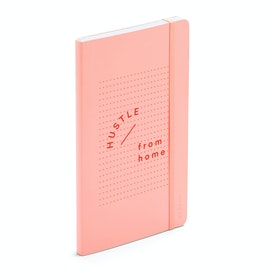 Blush Hustle From Home Medium Soft Cover Notebook
