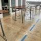 Brick Floor Arrow Social Distancing Decals, Set of 6,Brick,hi-res