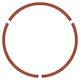 Brick Floor Circle Social Distancing Decals, Set of 2,Brick,hi-res