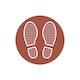 Brick Floor Marker Social Distancing Decals, Set of 2,Brick,hi-res
