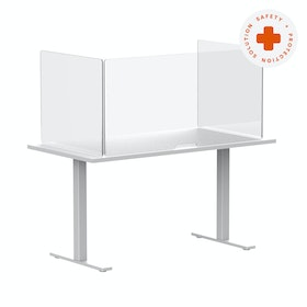 """Clear Freestanding Protective Acrylic Shield, 48"""",,hi-res"""