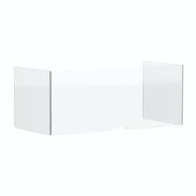 """Clear Freestanding Protective Acrylic Shield, 58"""",,hi-res"""