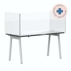 """Clear Protective Acrylic Shield for Series A and Series L Desks, 58"""",,hi-res"""