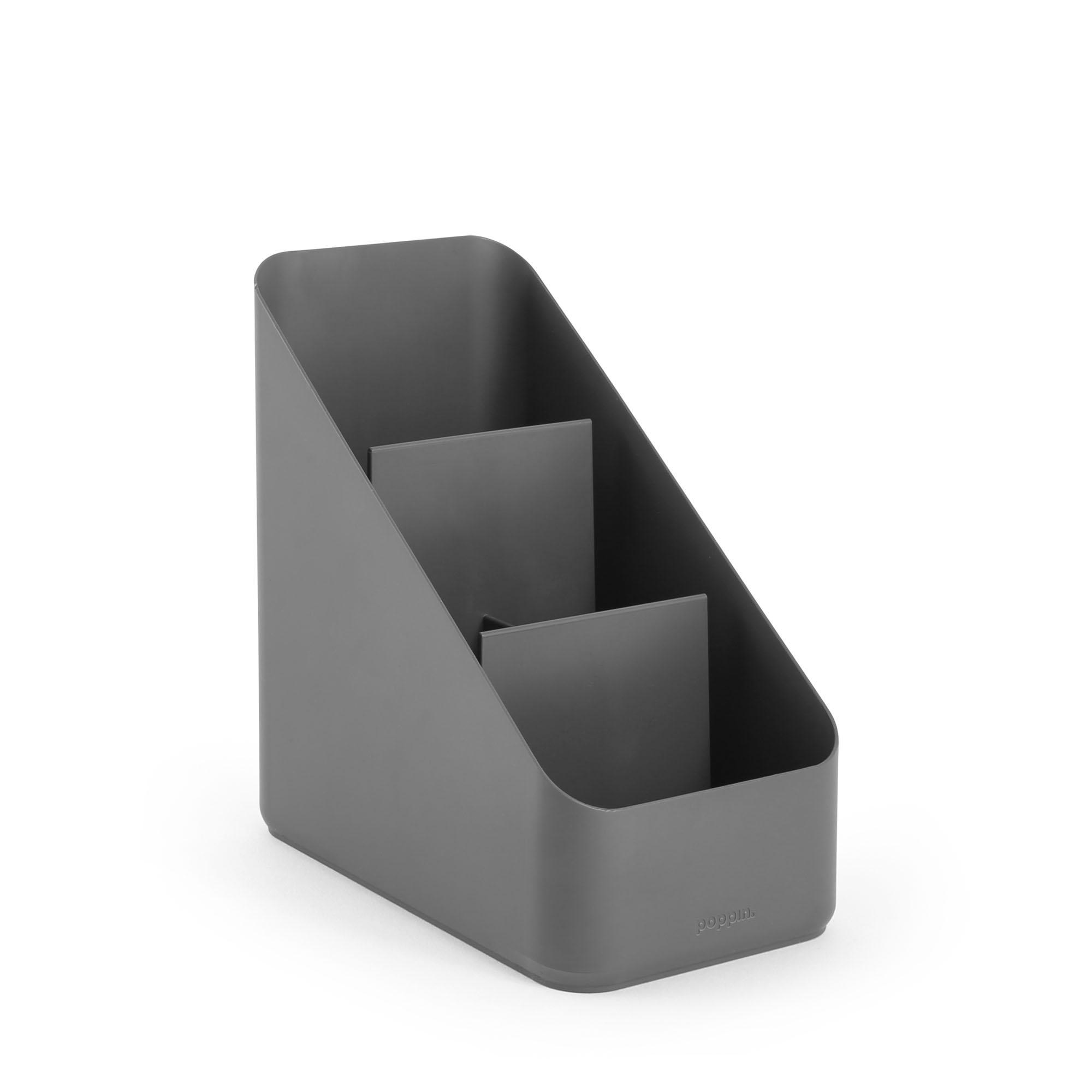 Dark Gray Small Desk Organizer Desk Organization Poppin