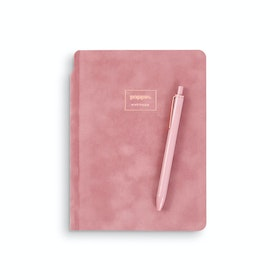Dusty Rose Velvet Sidekick Notebook + Pen