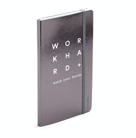 Gunmetal Work Hard Medium Soft Cover Notebook