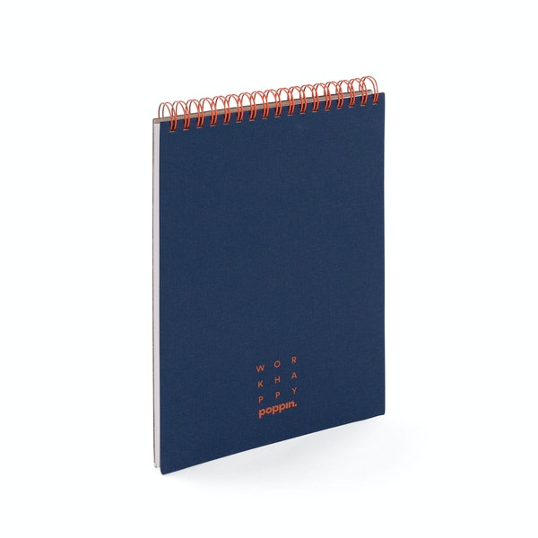 Lagoon + Clay Work Happy Top Spiral Notebook,Lagoon,hi-res