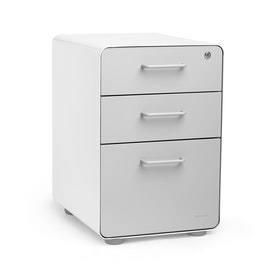 White + Light Gray Stow 3-Drawer File Cabinet