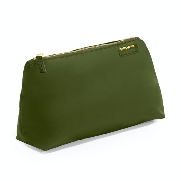 Olive + Sun Medium Accessory Pouch,Olive,hi-res