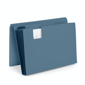 Slate Blue Accordion File