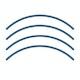 Slate Blue Desktop Social Distancing Decals, Set of 4,Slate Blue,hi-res