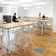Slate Blue Floor Marker Social Distancing Decals, Set of 2,Slate Blue,hi-res