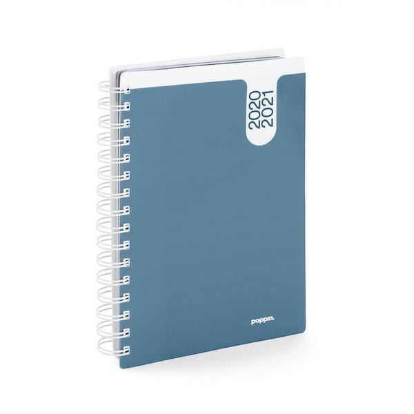Slate Blue Medium 18 Month Pocket Book Planner, 2020-2021,Slate Blue,hi-res