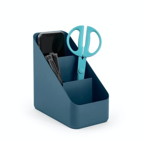 Slate Blue Small Desk Organizer,Slate Blue,hi-res
