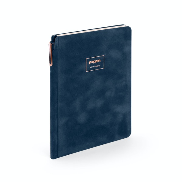 Storm Blue Velvet Sidekick Notebook + Pen,Storm,hi-res