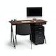 """Black + Walnut Key Desk, 48"""",Walnut,hi-res"""