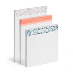 Elements Assorted Dream Big Writing Pads, Set of 3