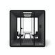 "White Series A Table 72x30"", Charcoal Legs + Black Key Side Chairs Set,Black,hi-res"