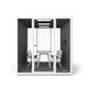 """White Series A Table 72x30"""", White Legs + White Key Side Chairs Set,White,hi-res"""