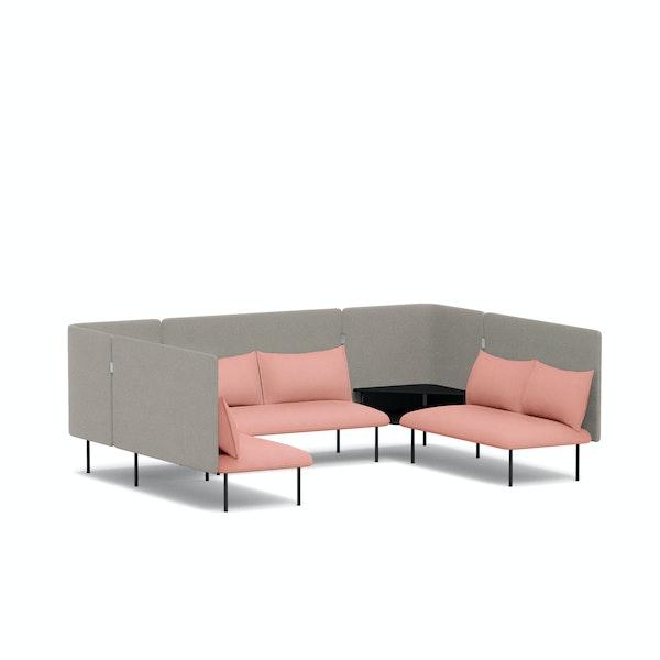 Blush + Gray QT Adaptable Collab Lounge Sofa,Blush,hi-res
