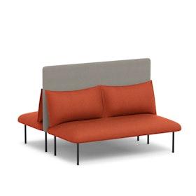 Brick + Gray QT Adaptable Back to Back Lounge Sofa