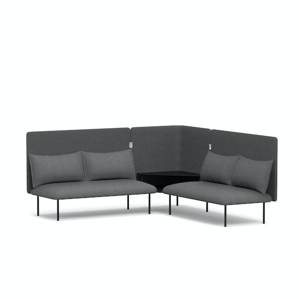 Dark Gray QT Adaptable Corner Lounge Sofa,Dark Gray,hi-res