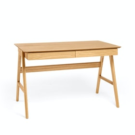 Natural Oak Home Office Wood A-Frame Desk