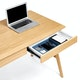 Natural Oak Home Office Wood A-Frame Desk,,hi-res