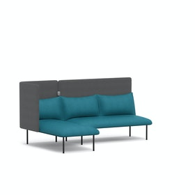 Teal + Dark Gray QT Adaptable Lounge Sofa + Left Chaise,Teal,hi-res