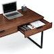 Walnut Home Office Wood Writing Desk,Walnut,hi-res