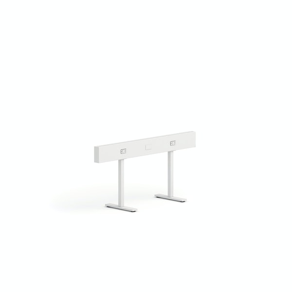 "White Boom Power Rail, 50""L, Square Legs,White,hi-res"