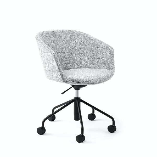 White Pitch Meeting Chair, Chord Upholstery,White,hi-res