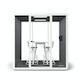 """White Series A Standing Table 57x27"""", White Legs + White Key Stools Set,White,hi-res"""