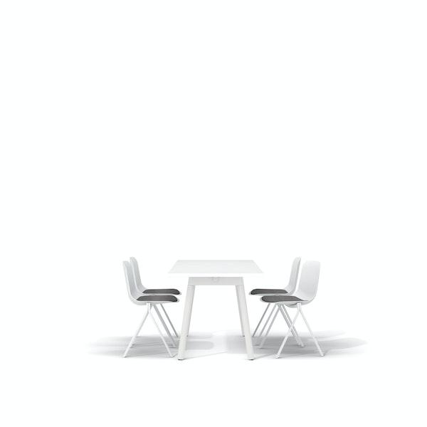 """White Series A Table 57x27"""", White Legs + White Key Side Chairs Set,White,hi-res"""