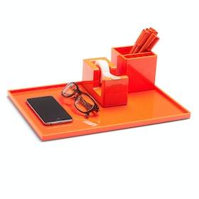 Orange Large Slim Tray,Orange,hi-res