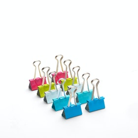 Assorted Medium Binder Clips, Set of 10