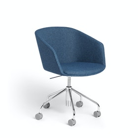 Dark Blue Pitch Meeting Chair, Medley Fabric,Dark Blue,hi-res