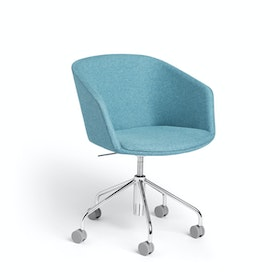 Blue Pitch Meeting Chair, Medley Fabric