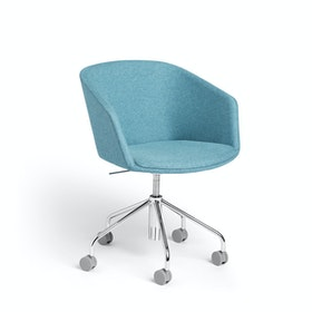 Blue Pitch Meeting Chair, Medley Fabric,Blue,hi-res