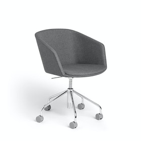 Dark Gray Pitch Meeting Chair, Medley Fabric,Dark Gray,hi-res