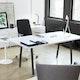 "Series A Executive Desk, White, 72"", Charcoal Legs,White,hi-res"