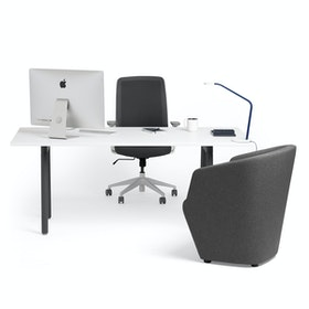 Series A Executive Desk, Charcoal Legs